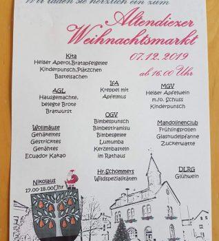 Einladung Weihnachtsmarkt 2019