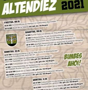 Kirmes in Altendiez 08.-11.10.2021